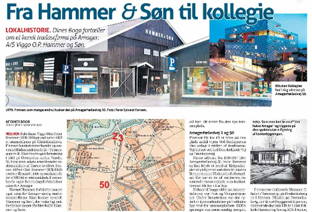 Tømmerfirmaet Hammer og Søn, Amager