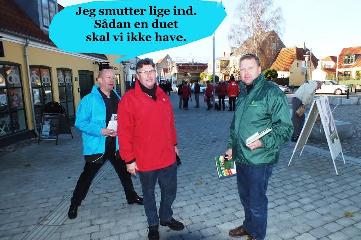 Politiske kandidater på Neels Torv - Dines Bogø