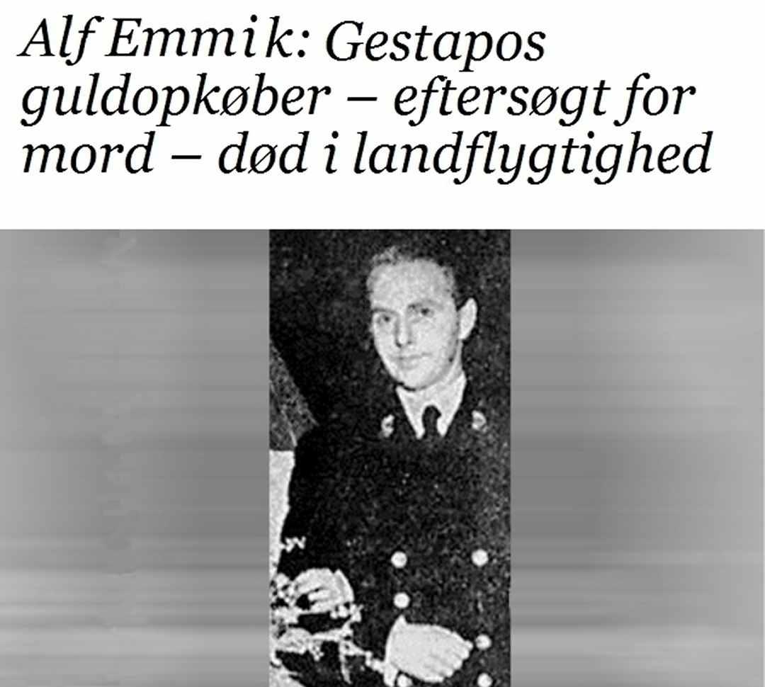 Alf Emmik - Paul Meyer - Gestapos guldopkøbere - Forfatter Dines Bogø