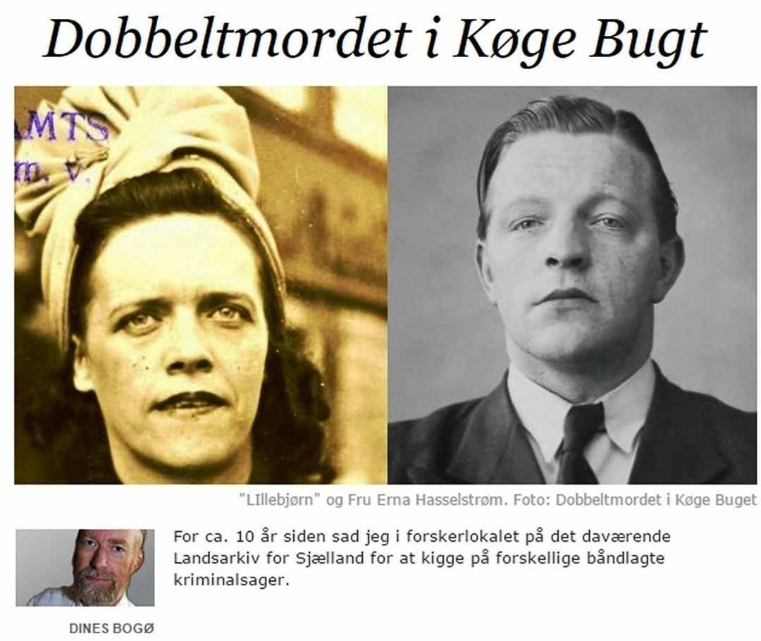 Chr. Holtet - Dobbeltmordet - Køge Bugt - Peter Bangs Vej - Dines Bogø