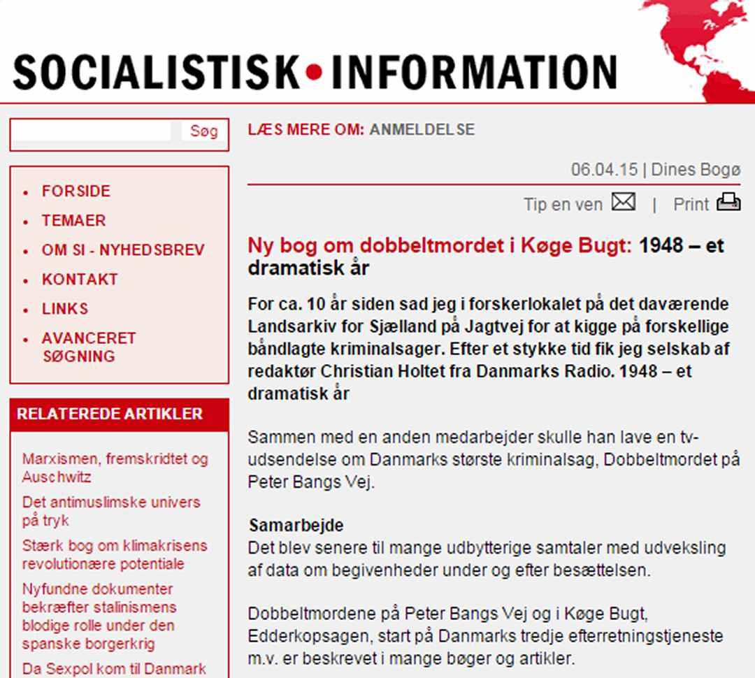 Dobbeltmordet i Køge Bugt - Dines Bogø